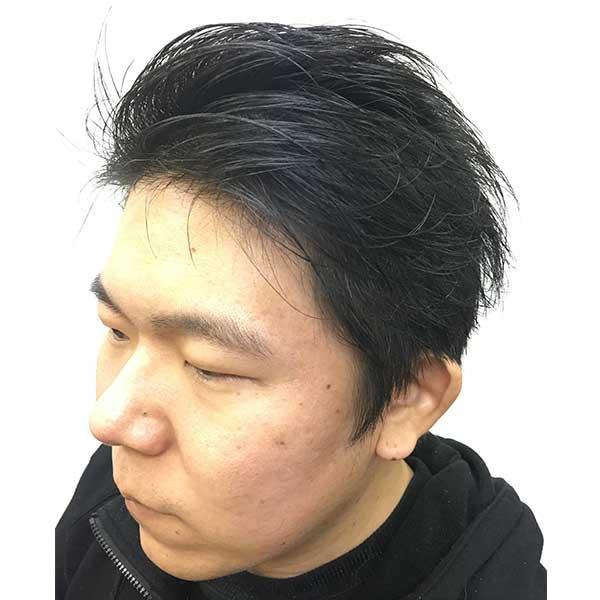 本厚木のメンズ専門美容院(床屋)Q's ヘアスタイル セミカジュアルサイドバック